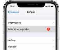 iphone batterie mise a jour