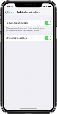iphone batterie reduire animation