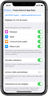 iphone batterie telechargement automatique