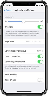 iphone batterie verouillage automatique